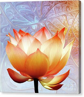 Sunshine Lotus Canvas Print