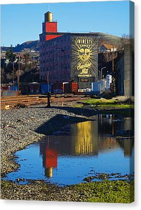 Sunshine Mill Reflection Canvas Print