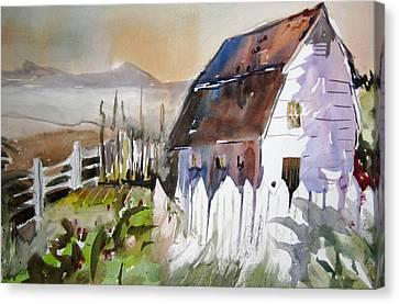Sunshine On A Fence Canvas Print