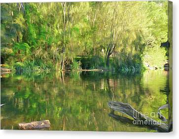 Reflections Of Sun In Water Canvas Print - Sunshine On Nature By Kaye Menner by Kaye Menner