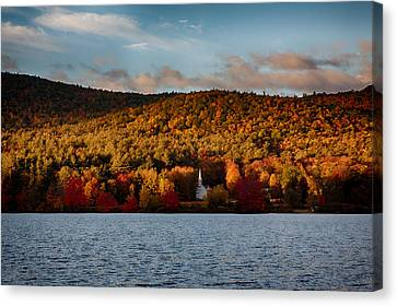 New England Autumn Canvas Print - Sunshine On The Hills Of Fall Foliage by Jeff Folger