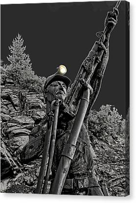 Sunshine Silver Mine Memorial - Kellogg Idaho Canvas Print by Daniel Hagerman