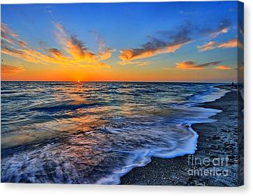 Canvas Print featuring the photograph Sunshine Skies by Scott Mahon