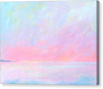 Canvas Print featuring the painting Sunup Over Kailua by Angela Treat Lyon