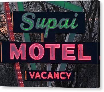 Canvas Print - Supai Motel Neon by April Bielefeldt