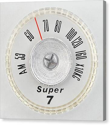 Super 7 Portable Radio Dial Canvas Print by Jim Hughes