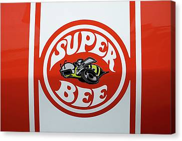 Canvas Print featuring the photograph Super Bee Emblem by Mike McGlothlen