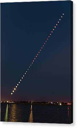 Super Blood Lunar Eclipse Canvas Print