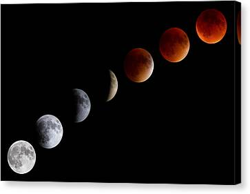 Super Blood Moon Eclipse Canvas Print by Brian Caldwell