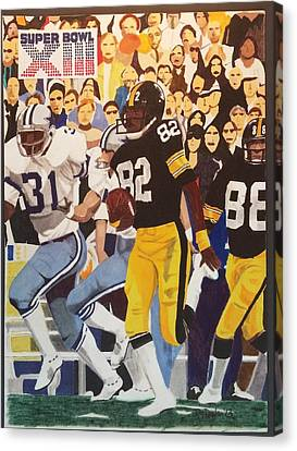 Steelers Canvas Print - Steelers - Cowboys Super Bowl Xlll by TJ Doyle