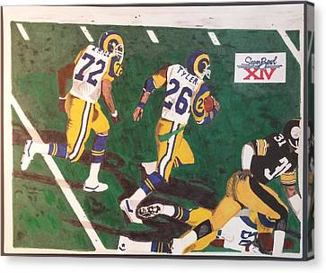 Steelers Canvas Print - Los Angeles Rams Super Bowl by TJ Doyle