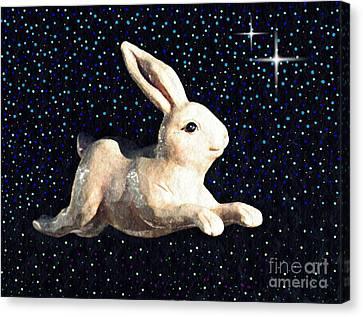 Super Bunny Canvas Print by Sarah Loft