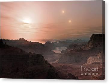 Gliese Canvas Print - Super-earth Exoplanet Gliese 667 Cc by ESO/Luis Cal�ada