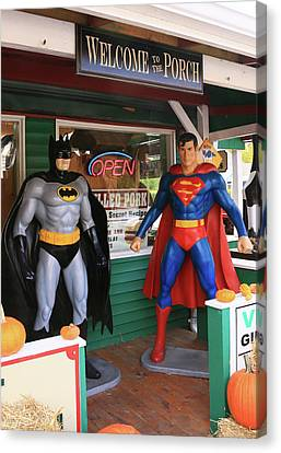 Super Heroes In The House Canvas Print by Allen Beatty