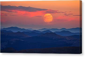 Super Moon At Sunrise Canvas Print