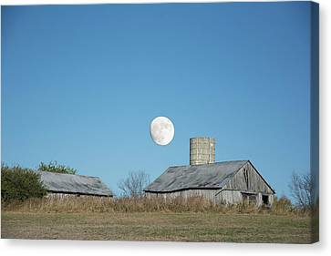 Super Moon Barn Canvas Print by Randall Branham