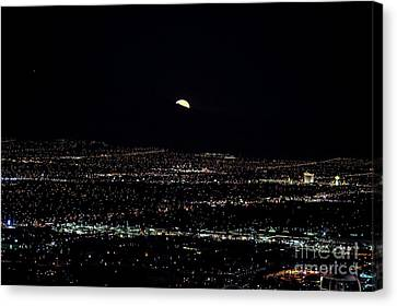 Super Moon In Las Vegas Canvas Print by Sv
