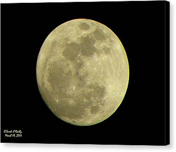 Super Moon March 19 2011 Canvas Print by Sandi OReilly