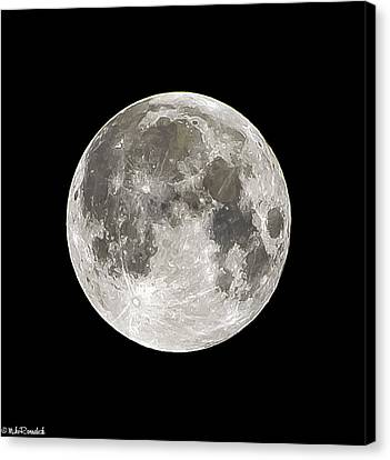 Super Moon Canvas Print by Mike Ronnebeck
