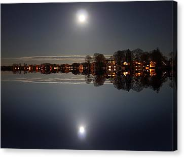 super moon night   Connecticut  Canvas Print by Mark Ashkenazi