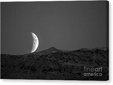 Super Moon Rise Eclipse Canvas Print by Robert Bales