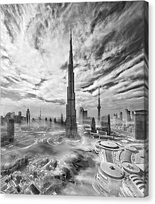 Khalifa Canvas Print - Super Skyline by Koji Tajima