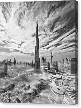 Super Skyline Canvas Print by Koji Tajima