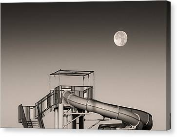 Super Slider Moon Canvas Print by Don Spenner