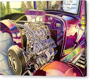 David Hoque Canvas Print - Supercharged Antique 1931 Ford Coupe  by David Hoque