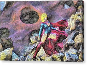 Supergirl Canvas Print - Supergirl by JC Findley