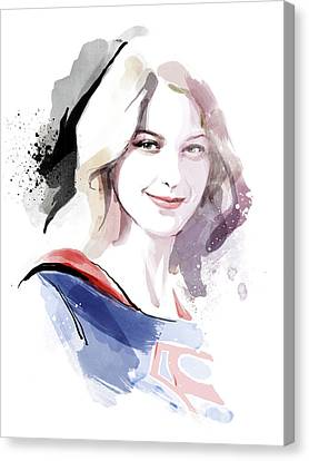 Supergirl Canvas Print by Unique Drawing