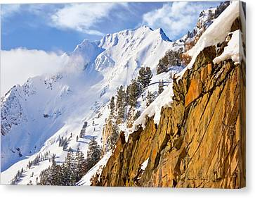 Superior Peak In The Utah Wasatch Mountains  Canvas Print by Utah Images