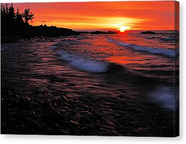 Superior Sunrise 2 Canvas Print by Larry Ricker