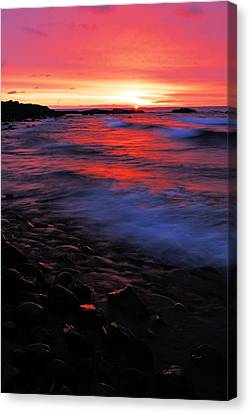 Superior Sunrise Canvas Print by Larry Ricker