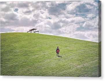 Superman And The Big Hill Canvas Print by Scott Norris
