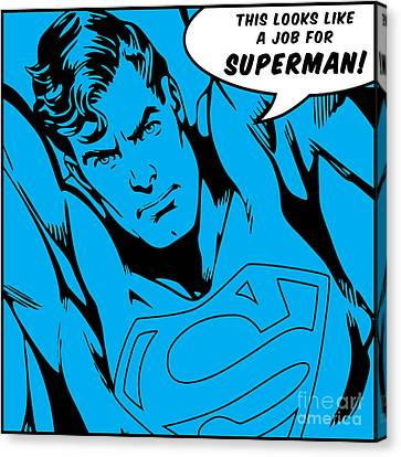 Superman Canvas Print by Andrea Meneghini