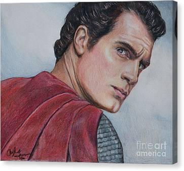 Superman Canvas Print by Christine Jepsen