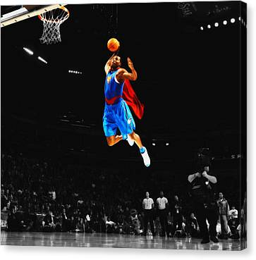 Julius Erving Canvas Print - Superman Dwight Howard by Brian Reaves