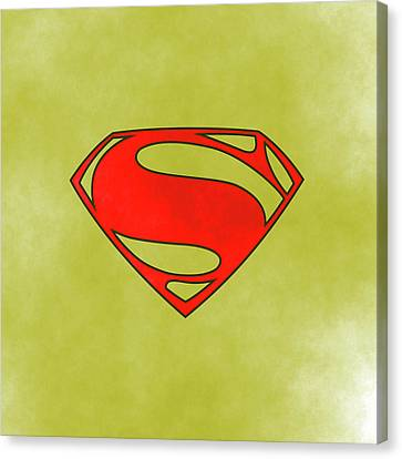 Superman Logo Canvas Print by Comic Memories
