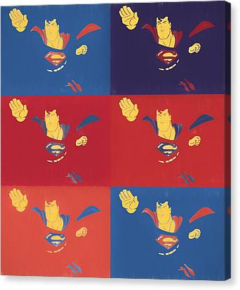 Superman Pop Art Panels Canvas Print