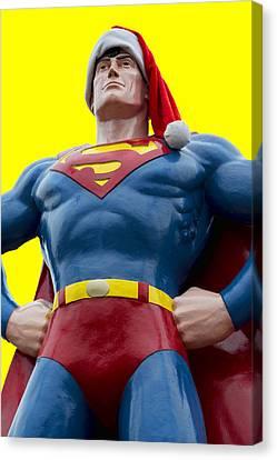 Superman Santa Canvas Print by Stephen Stookey