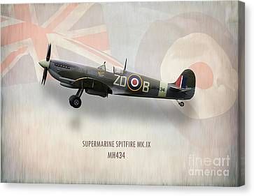Supermarine Spitfire Mk.ix Mh434 Canvas Print by J Biggadike