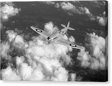 Supermarine Spitfire Prototype K5054 Black And White Version Canvas Print by Gary Eason