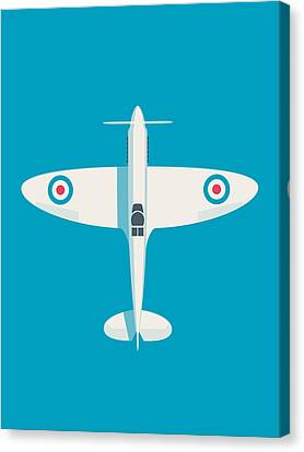 Supermarine Spitfire Wwii Raf Fighter Aircraft Canvas Print by Ivan Krpan