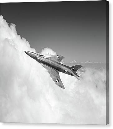 Canvas Print featuring the photograph Supermarine Swift Wk275 Bw Version by Gary Eason