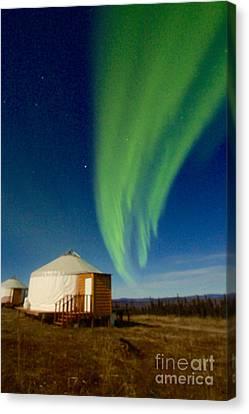 Supermoon Aurora II Canvas Print by Sean Griffin