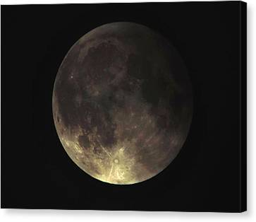 Supermoon Blood Moon 001 Canvas Print