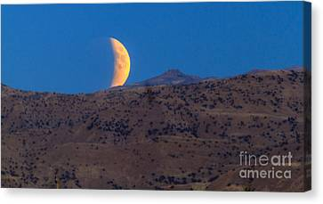 Supermoon Eclipse Canvas Print by Robert Bales