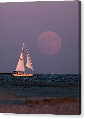 Supermoon Two Canvas Print by John Loreaux