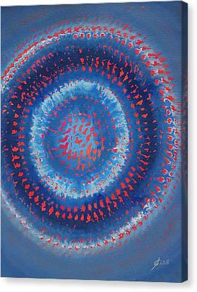 Supernova Original Painting Canvas Print